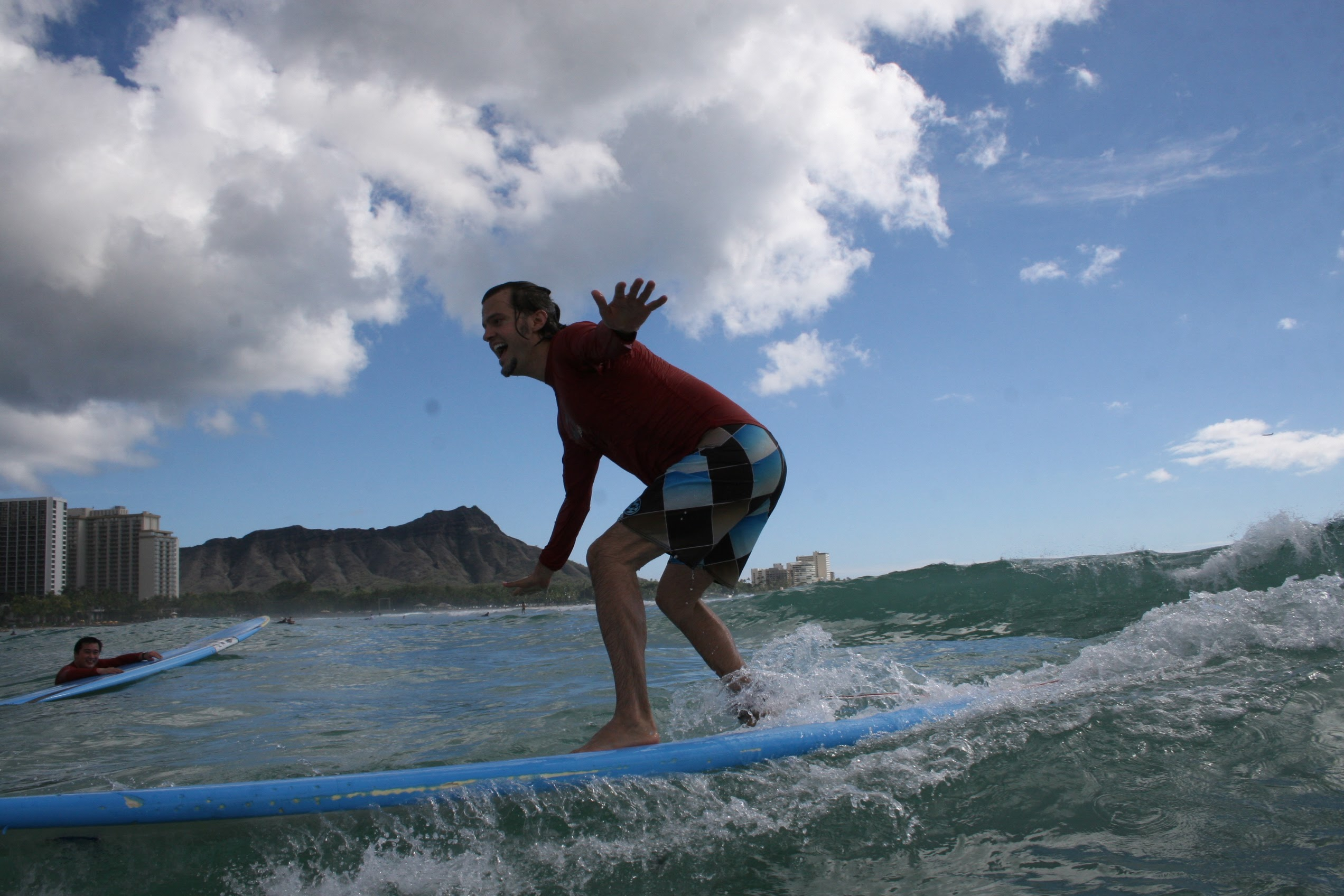 Chris and Mike Surfing